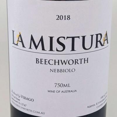 """Virago Nebbiolo """"La Mistura"""" 2018 – NEW RELEASE"""